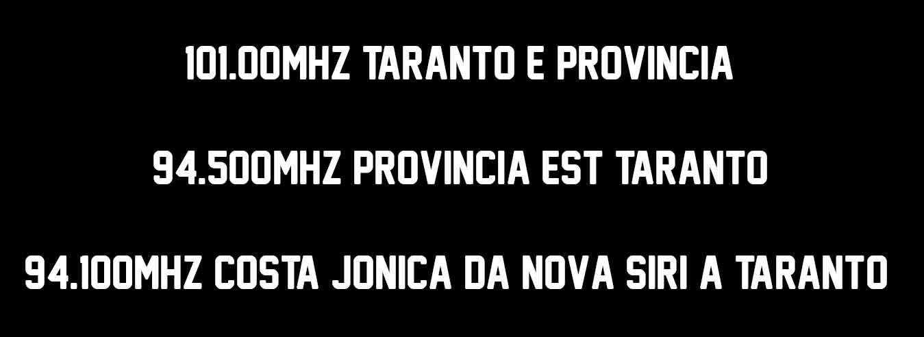 Lattemiele Taranto Frequenze aggiornate